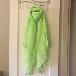 J crew linen blend scarf